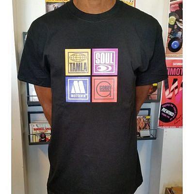 Motown Labels T-Shirt - Black -Xxl
