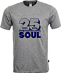 Soul Brother 25 Soul T-Shirt Grey - S