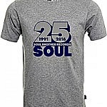 Soul Brother 25 Soul T-Shirt Grey - L