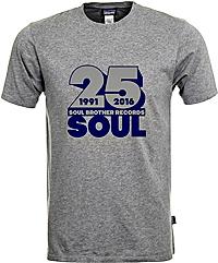 Soul Brother 25 Soul T-Shirt Grey - L