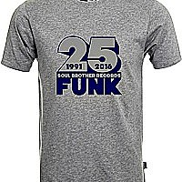 Soul Brother 25 Funk T-Shirt Grey - S