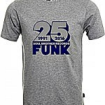 Soul Brother 25 Funk T-Shirt Grey - Xl