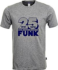 Soul Brother 25 Funk T-Shirt Grey - Xxl