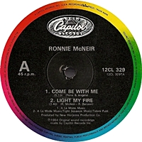 Ronnie Mcneir Experience Ep - Come Be With Me / Light My Fire / Is This What Happens To A Love / Keep Giving Me Love