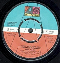 Where Have You Been/ Stop To Start (atlantic 45s)