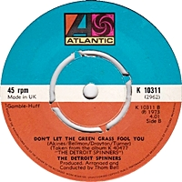 One Of A Kind (Love Affair)/ Don'T Let The Green Grass Fool You (atlantic 45s)
