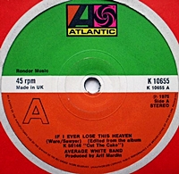 If I Ever Lose This Heaven/ High Flyin Woman (atlantic 45s)