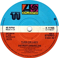 Turn On Lady/ I Just Don'T Know About This Girl Of Mine (atlantic 45s)
