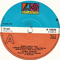 Games People Play/ I Don'T Want To Lose You (atlantic 45s)