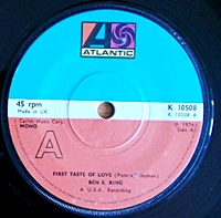 First Taste Of Love/ Spanish Harlem (atlantic 45s)