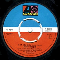 Is It You Girl/ Cryn In My Sleep (atlantic 45s)