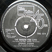 The Bigger You Love/ I'M In A Different World  (tamla 7s)