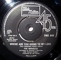 Where Are You Going To My Love/ Up Again (tamla 7s)