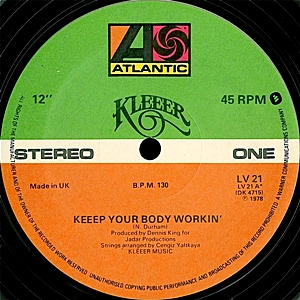 Keep Your Body Workin' (Clear Vinyl)