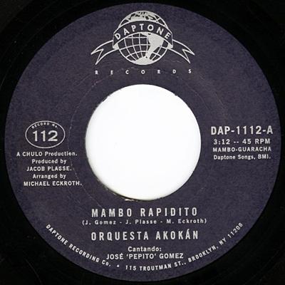 Mambo Rapidito/Un Tabaco Para Elegua