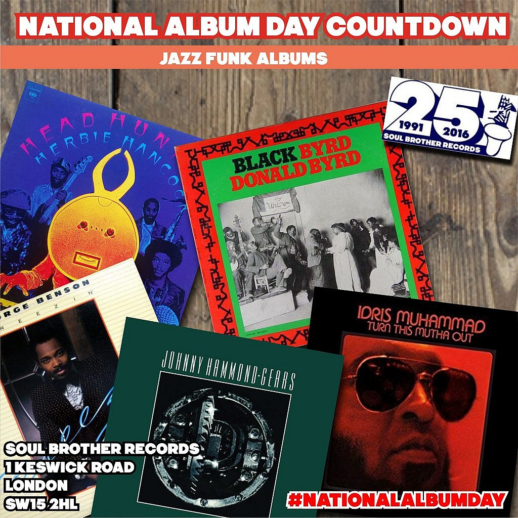 national album day countdown jazz funk funky jazz and fusion albums soul brother records. Black Bedroom Furniture Sets. Home Design Ideas