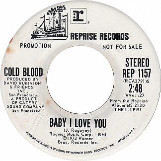 Baby I Love You/(Stereo/ Mono)