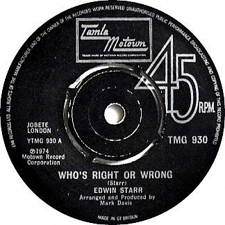 Hell Up In Harlem/Who's Right Or Wrong