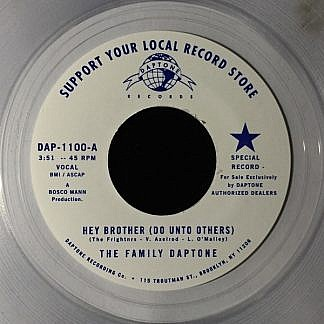 Hey Brother (Do Unto Others)/Soul Fudge (Clear Vinyl)