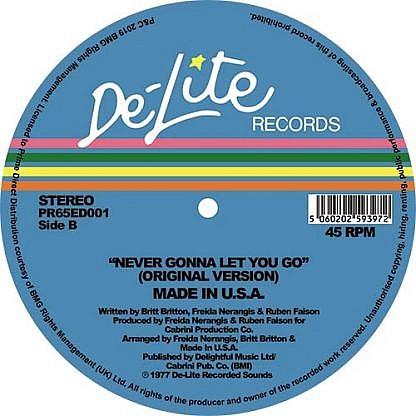 Never Gonna Let You Go (Original/Theo Parrish Mix)
