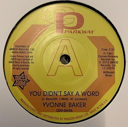 You Didn'T Say A Word (Dj Copy)