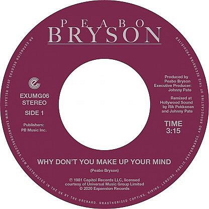 Why Don'T You Make Up Your Mind/Paradise (Pre-Order: Due 28Th Feb 2020)