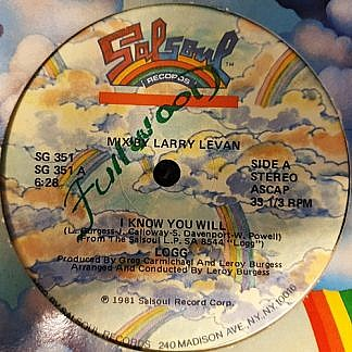 I Know You Will (Mix By Larry Levan)